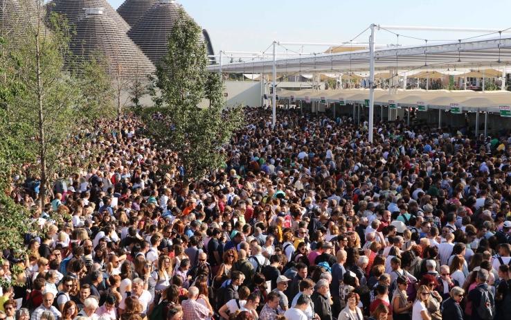 L'ingresso ai tornelli di EXPO