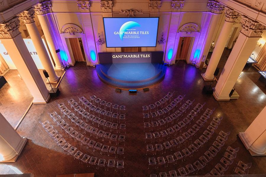 Palazzo Albergati evento Gani Marble Tiles